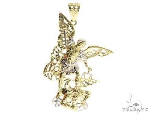 10K Gold Saint Michael Pendant 57052 Metal