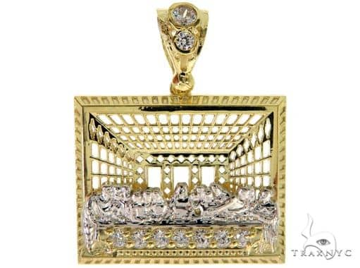 Last Supper 10k Yellow Gold Pendant 49722 Style