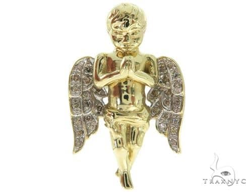 Micro Pave Diamond Small Angel Pendant 57066 Metal