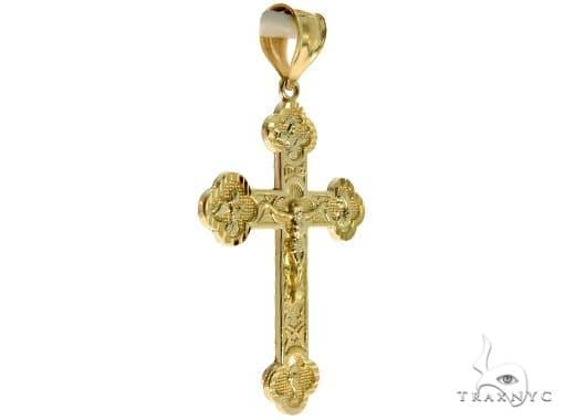 10K Yellow Gold Jesus Cross Crucifix 57069 Gold