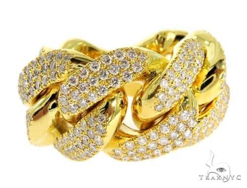 Miami Cuban Link Diamond Ring 16 mm wide 57054 Stone