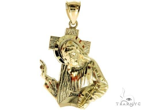 10K Yellow Gold Jesus Pendant S 57074 Metal