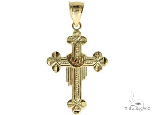 10K Yellow Gold Cross Crucifix 57076 Gold