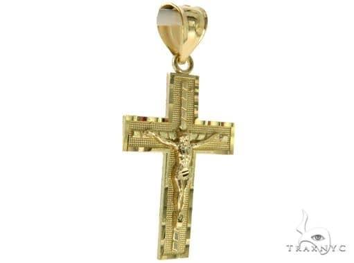 10K Yellow Gold Jesus Cross Crucifix 57084 Gold