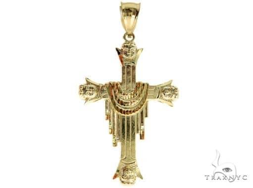 10K Gold Cross Crucifix 57089 Gold