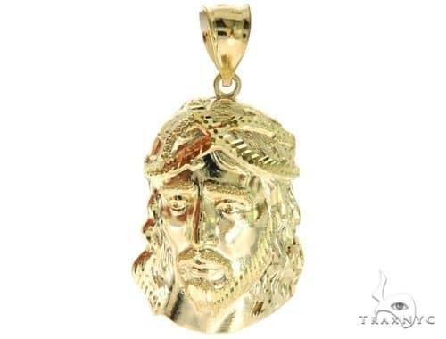 10K Yellow Gold Jesus Pendant M 57091 Metal
