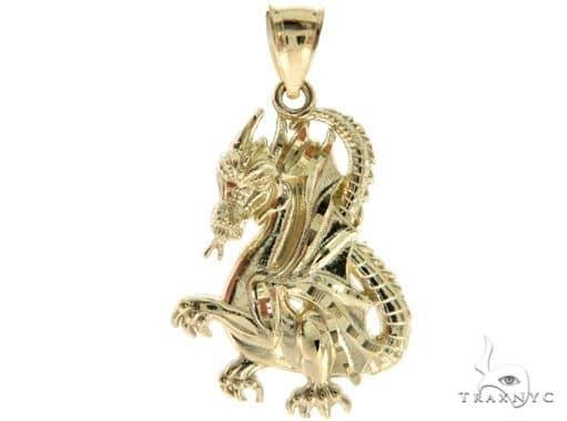 10K Yellow Gold Dragon Pendant 57097 Metal