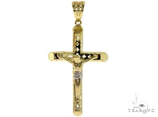 10K Yellow Gold Jesus Cross Crucifix 57098 Gold