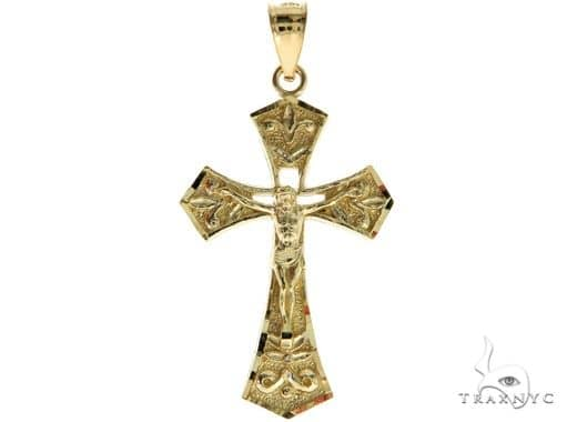 10K Yellow Gold Jesus Cross Crucifix 57099 Gold