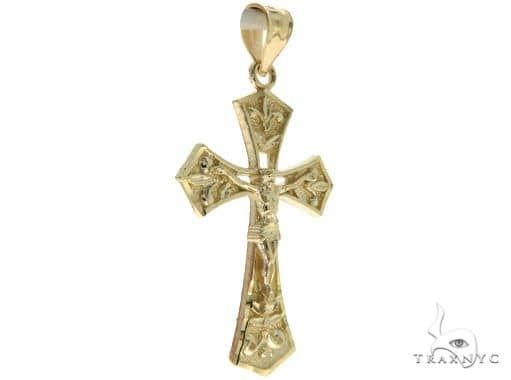 10K Yellow Gold Jesus Cross Crucifix 57099 Gold