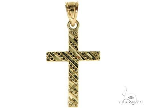 10K Yellow Gold Small Cross Crucifix 57103 Gold