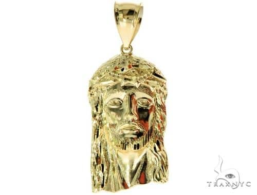 10K Yellow Gold Jesus Pendant M 57115 Metal