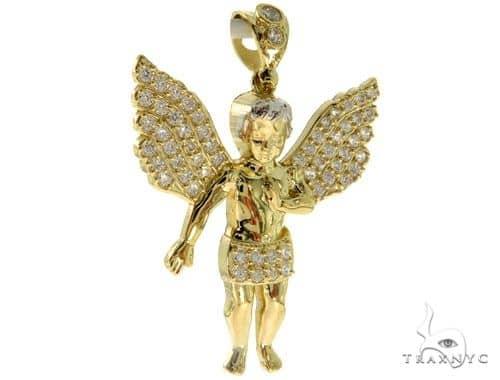 10k Yellow Angel Pendant 44496 Style