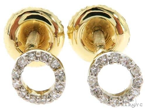 Prong Diamond Initial 'O' Earrings 57164 Stone