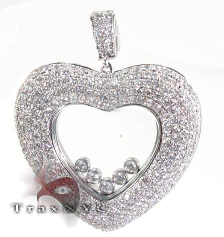 Floating Heart Pendant Stone