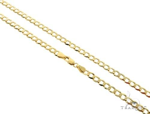 10KY Cuban Curb Link Chain 30 Inches 4mm 10.4 Grams Gold