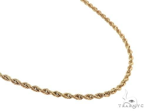 10KY Rope Link Chain 22 Inches 2mm 2.0 Grams 57275 Gold