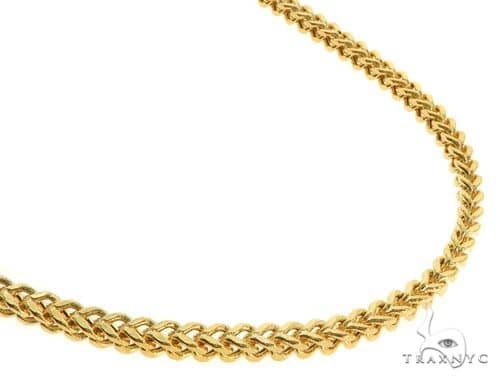 14KY Hollow Franco Link Chain 24 Inches 3.5mm 19.6 Grams Gold