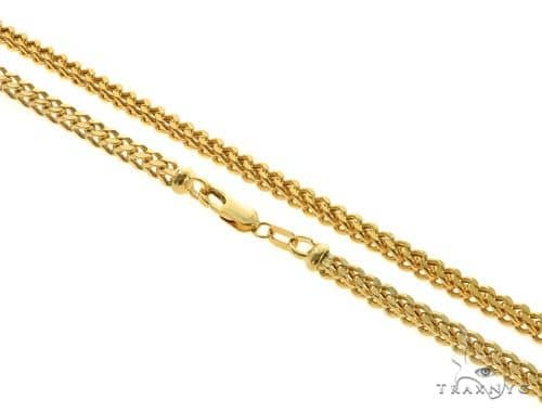 14KY Hollow Franco Link Chain 26 Inches 3.5mm 21.8 Grams 57295 Gold