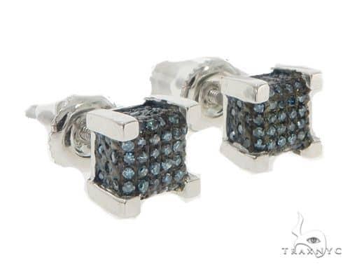 10KW Blue Color Diamond Earrings 57304 Stone