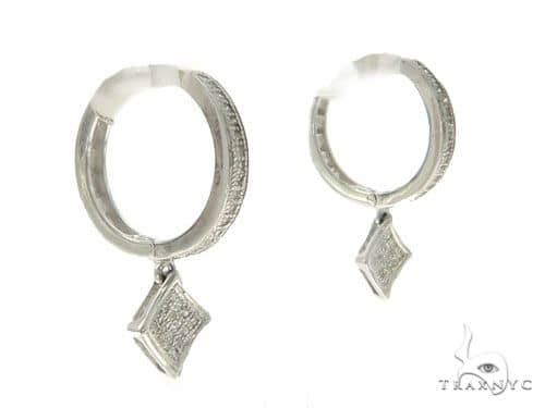 14KW Diamond Hoop Earrings 57309 Stone