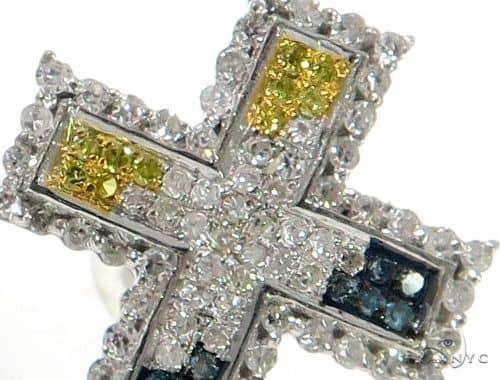 10K Cross Crucifix Diamond Earrings 57390 Stone
