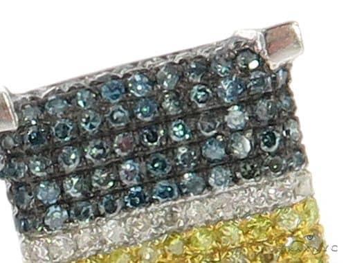10K Cubic Diamond Earrings 57391 Stone