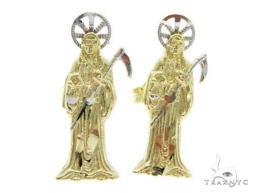 10K The Grim Reaper Earrings 57417 Metal
