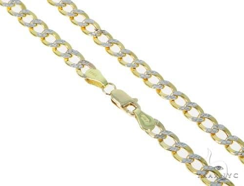 10KY Hollow Cuban Link Diamond Cut Chain 18 Inches 5mm 7.7 Grams 57607 Gold