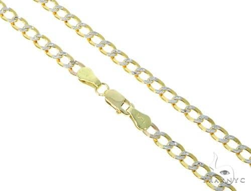 10KY Hollow Cuban Link Chain 18 Inches 3.5mm 3.9 Grams 57633 Gold