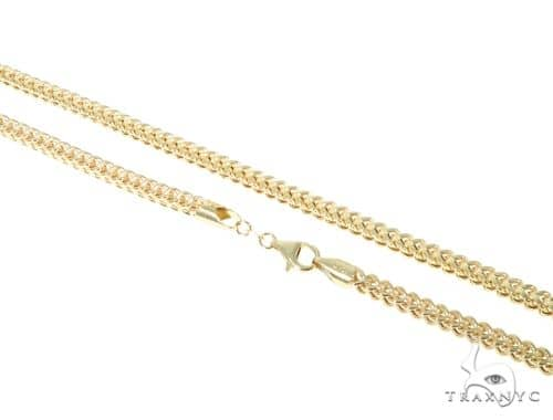 10KY Hollow Franco Link Chain 32 Inches 4mm 21.9 Grams 57641 Gold