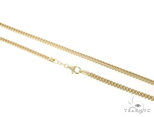 10KY Hollow Franco Link Chain 36 Inches 3mm 15.60 Grams 57648 Gold