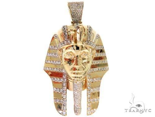 Pharaoh King Tut Diamond Pendant 57679 Metal