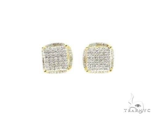 Halo Diamond Silver Earrings 57689 Metal