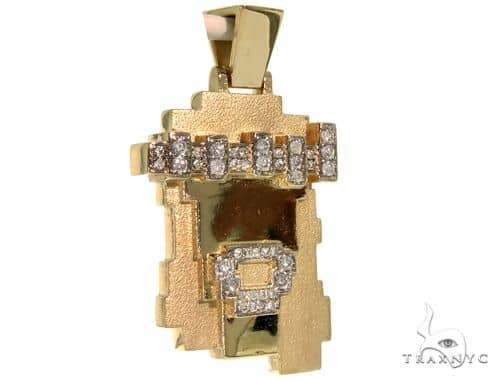 Prong Diamond Lego-Style Jesus Piece 57704 Metal