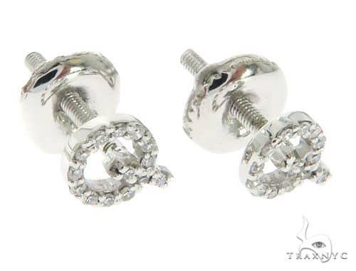 Initial 'Q' Earrings 58445 Stone