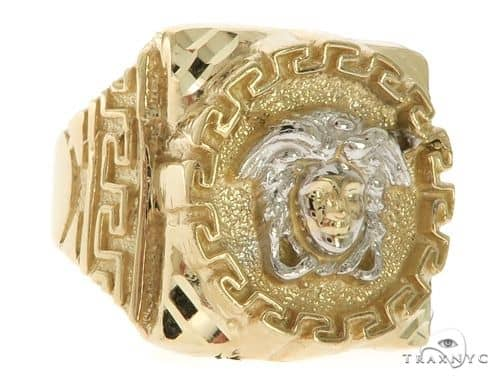 10K Gold Medusa Ring 58449 Metal