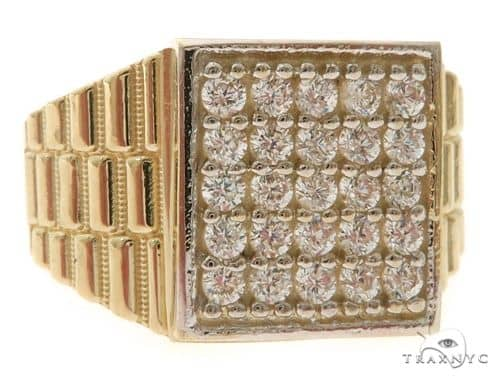 10K Gold CZ Ring 58451 Metal