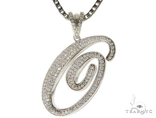 CZ Silver Initial(O) Pendant 30 Inches Franco Chain Set 58511 Metal