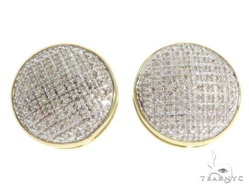 10K Yellow Gold Diamond Earrings 58623 Stone