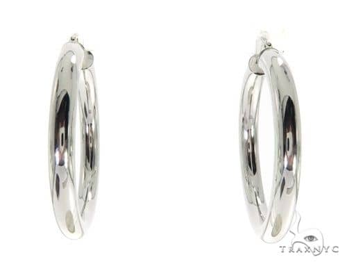 14K White Gold Hoop Earrings 58625 Style