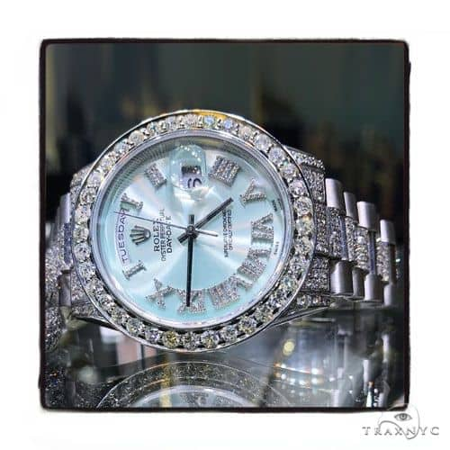 Rolex Day Date Mother of Pearl 18K Gold and Stainless Steel 61377