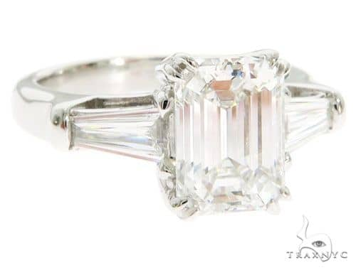 Emerald Cut Engagement Ring 61453 Engagement