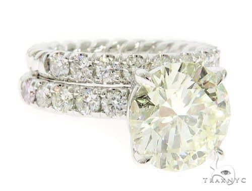 Round Cut Engagement Ring Set 61454 Engagement