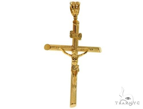 .925 Sterling Silver Crucifix Cross 61486 Silver