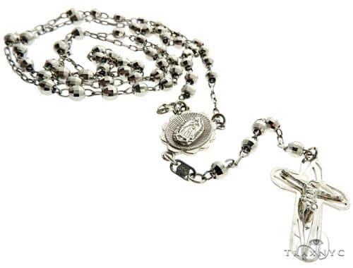 14K White Gold Rosary Chain 61487 Gold