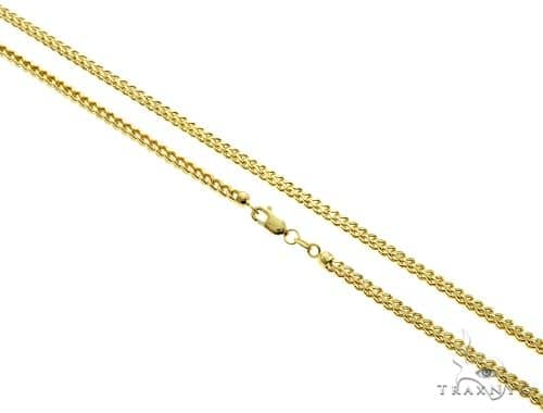 10K Yellow Gold Hollow Franco Link Chain 32 Inches 2.8mm 13.6 Grams 61592 Gold