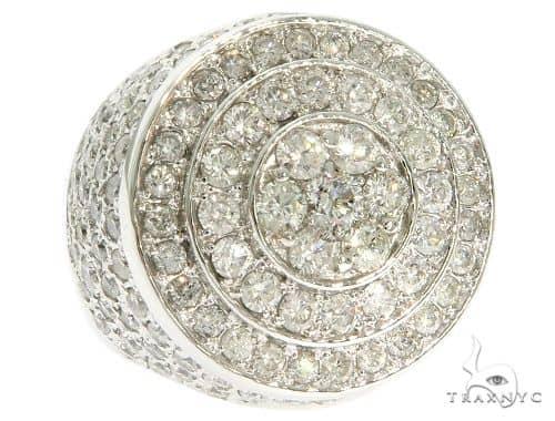 14K White Gold Mayan Pinky Ring 61631 Stone