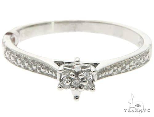 10K White Gold Micro Pave Diamond Ring 61641 Anniversary/Fashion