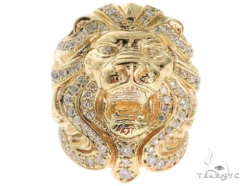 Custom Made TraxNYC Lion Head Ring 61771 Stone